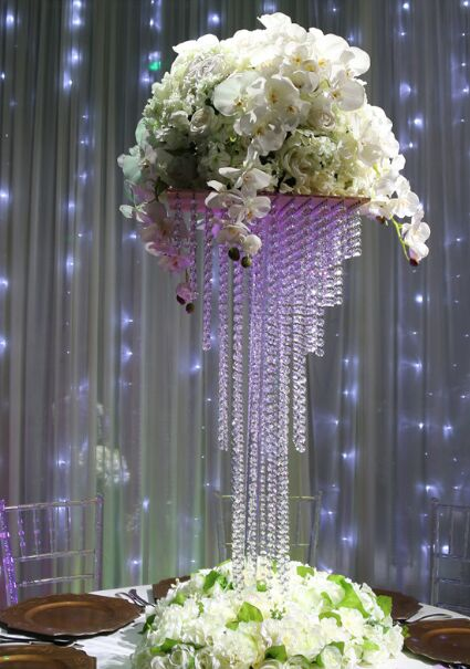 5tiers clear acrylic crystal centerpieces chandelier table weddiing <strong>decor</strong>