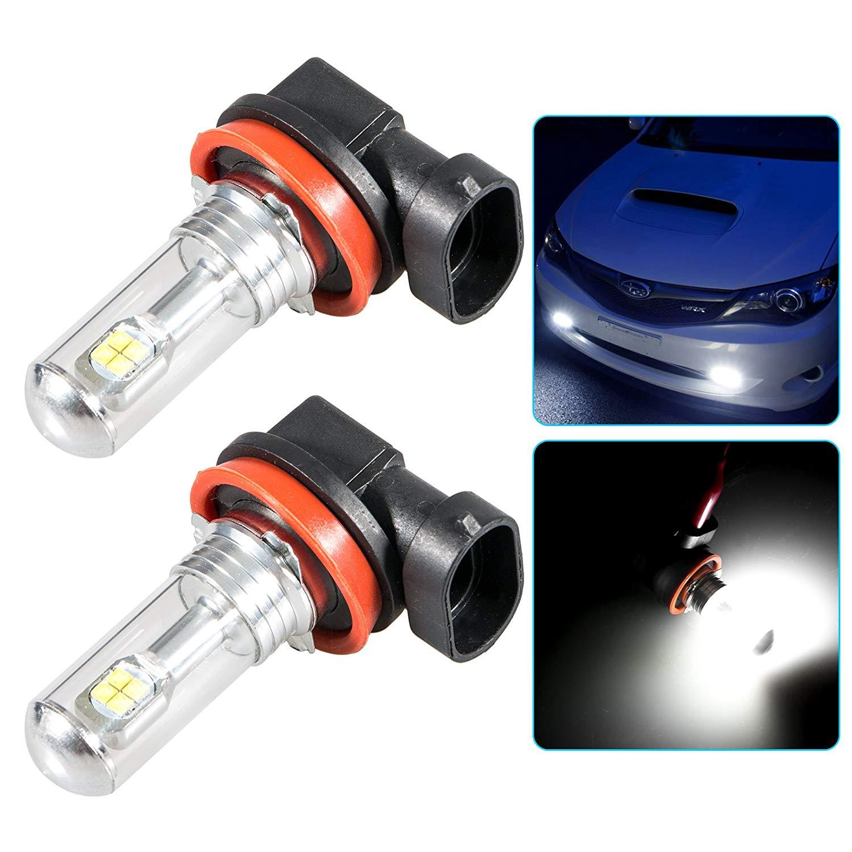 Linkstyle 2 Pcs H8 H9 H11 LED Fog Light Bulbs, 6000K Cree LED Fog Driving Light Bulbs, 3000LM Daytime Running Bulbs for Fog Light Lamps Replacement