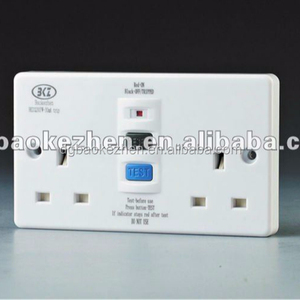 0230PW RCD wall socket,unswitched