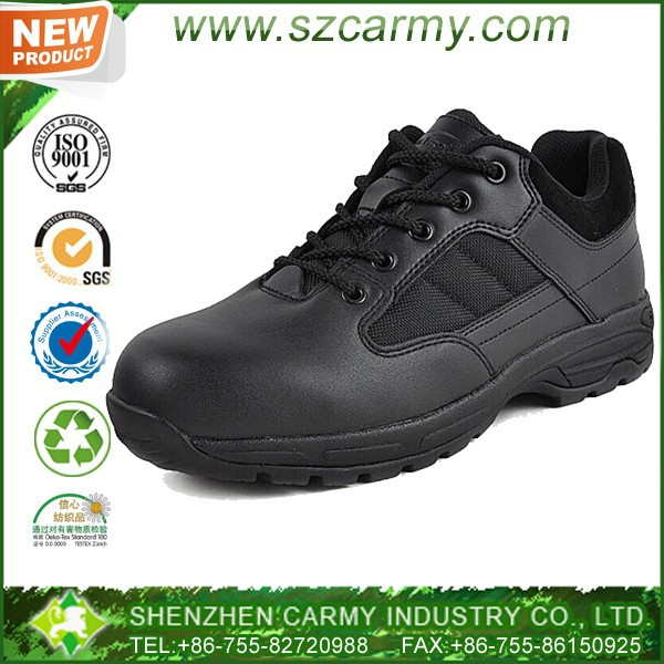 Leather oxford men's athletic pursuit tactical shoes