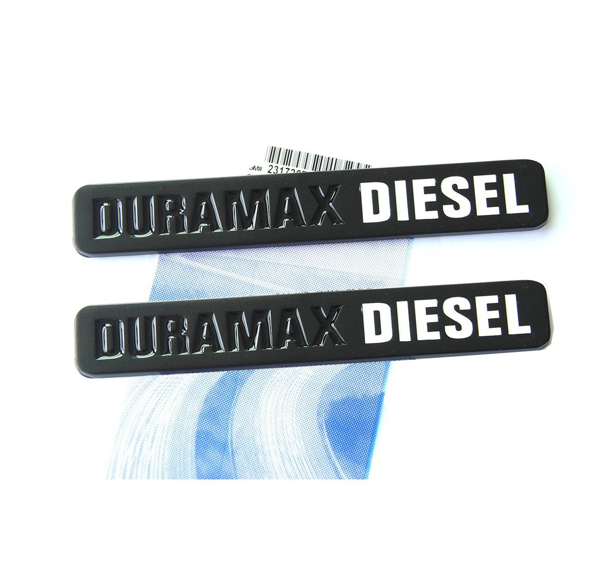 Yoaoo® 2x OEM Black Duramax Diesel Allison Truck Emblem Badges SILVERADO 2500 3500 HD GMC SIERRA Matte Black White