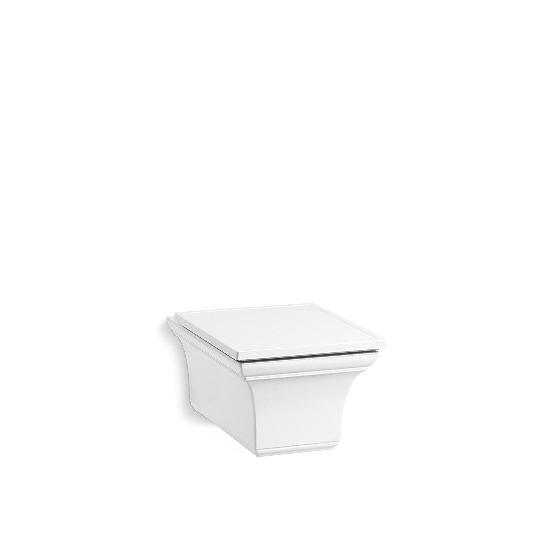 KOHLER 6918-0 Memoirs One-Piece Elongated Dual-Flush Wall-Hung Toilet, White