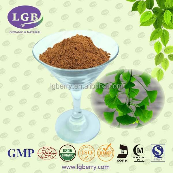 Organic ,KOSHER, ISO, GMP, FDA Ginkgo biloba leaf extract/Water-soluble ginkgo biloba leaf extract powder