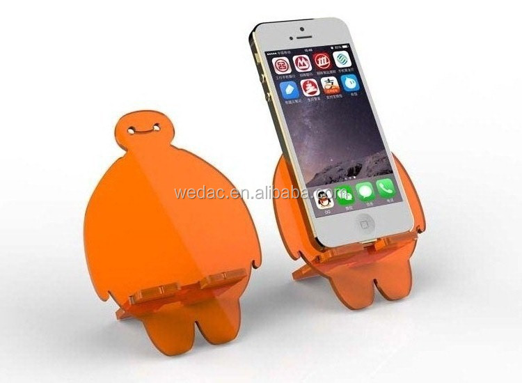 Colourful acrylic mobile phone holder