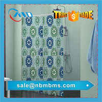 Custom Polyester Printed Shower Curtain Liner With Magnets