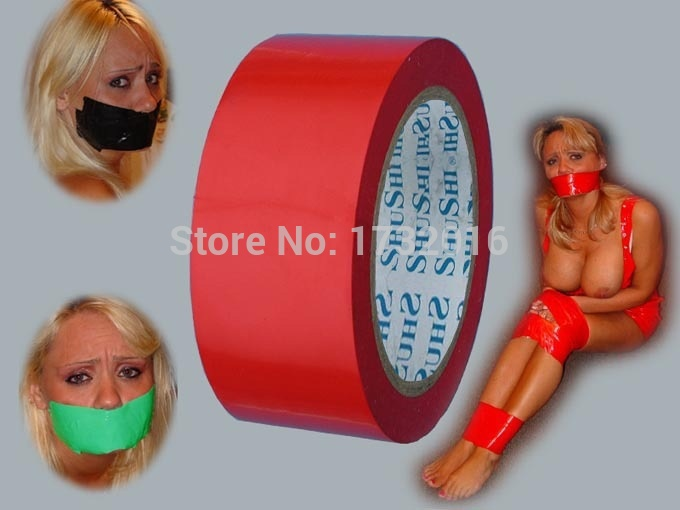 Red Color Restraint Bondage Static Tape sex Tape , Flirting Tape sex Toys For Couple Adult Games