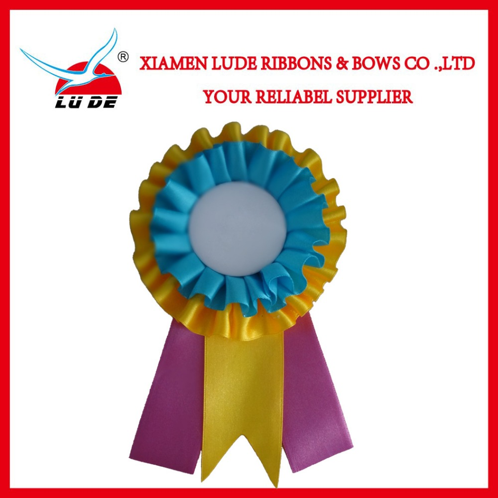 Factory Priced Customized award ribbon rosette for horse race