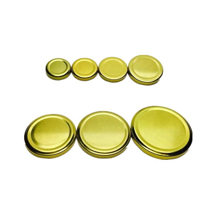 38mm 43mm 48mm 58mm 63mm 70mm 82mm t/o golden cap twise off metal lid