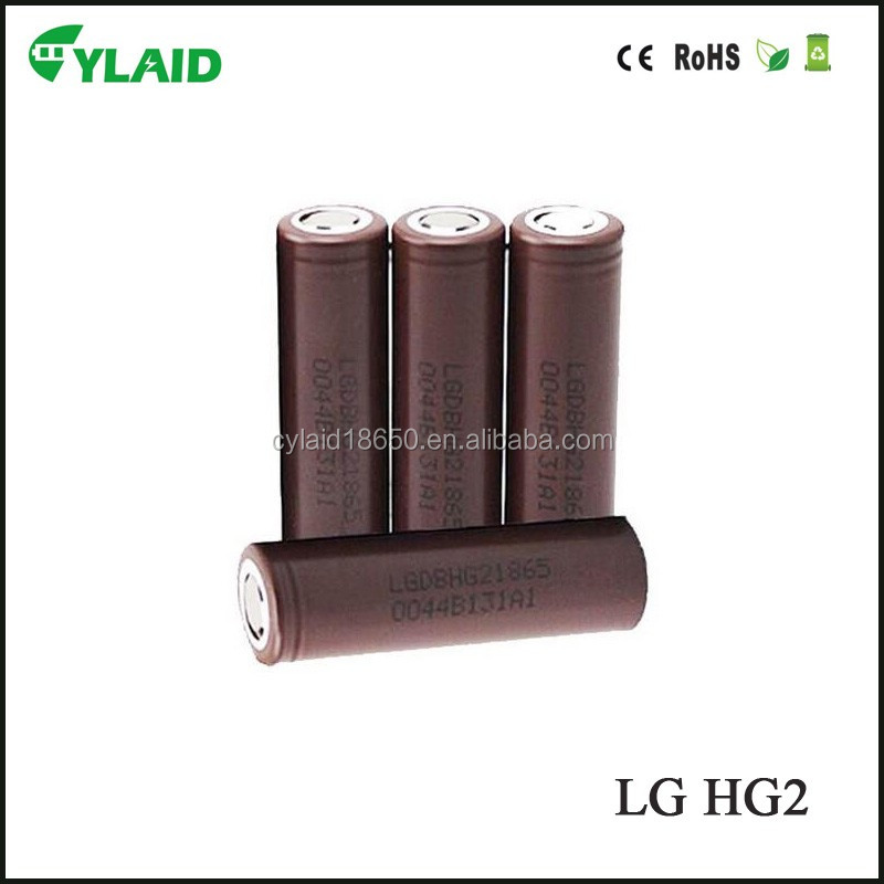 New high quality wholesale no MOQ fast shipping 18650 battery shrink wrap lg hg2 battery 3000mah 20a lg hg2