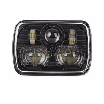 "Brighter Replace 5x7"" LED Projector Headlight Square 7 Inch Round LED Head Lamp For Truck"