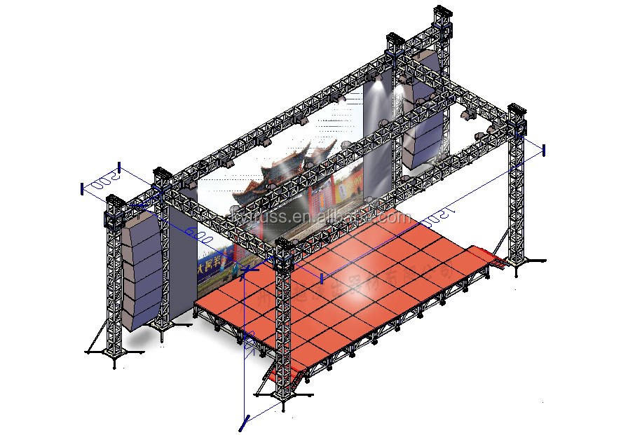 Easy install stage lighting truss outdoor stage truss design buy easy install stage lighting truss outdoor stage truss design aloadofball Images