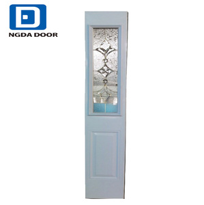 Fangda high quality side lite insulated steel half interior door