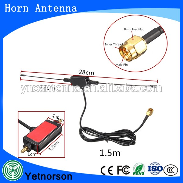 433MHZ Antenna 470/860MHZ SMA male horn patch for Universal Car TV Antenna