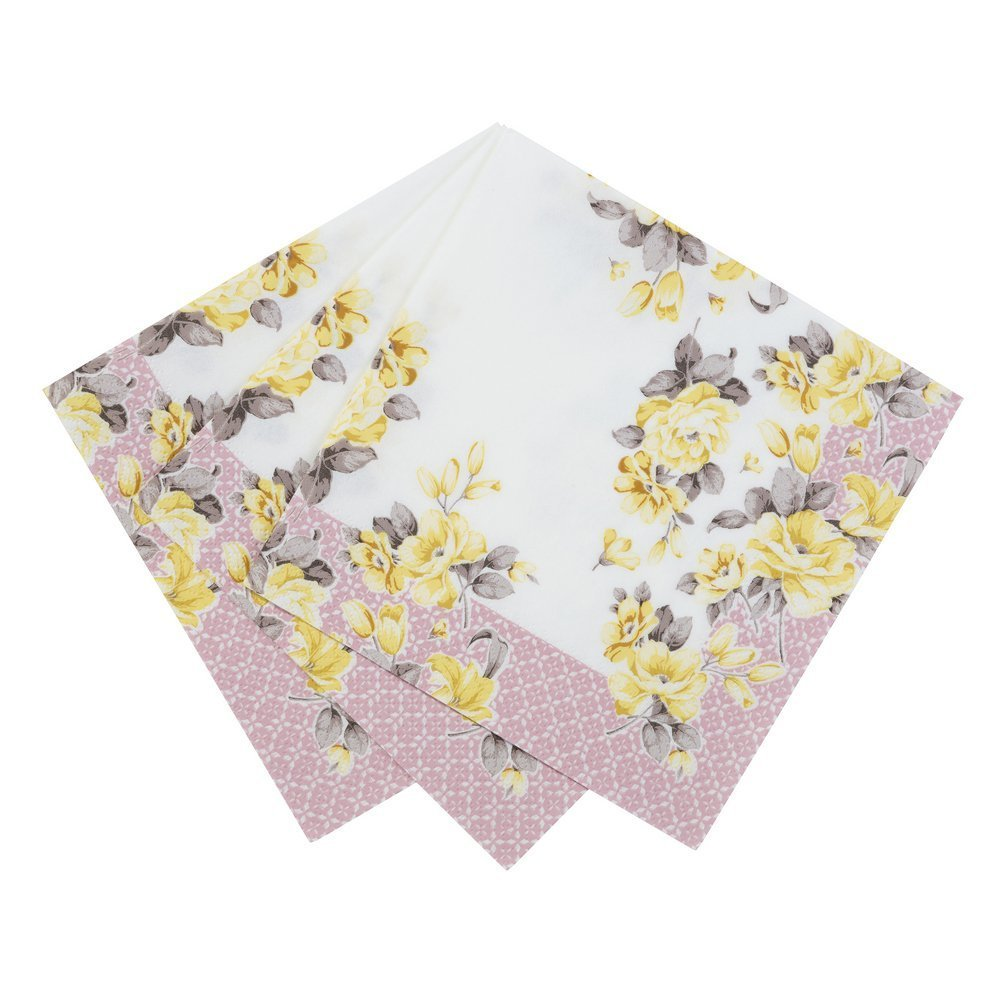 Talking Tables Truly Scrumptious Vintage Floral Paper Napkins 13 inch for a Tea Party, Summer or Birthday Party, Multicolor (40 Pack)