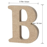 Wooden Alphabet Letters Plaque Wood DIY Decorations for Art Craft Wall Home Office Wedding Birthday Theme Party