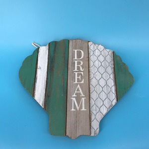 25x1.5x28 Pale Green say dream unfinished wood plaque