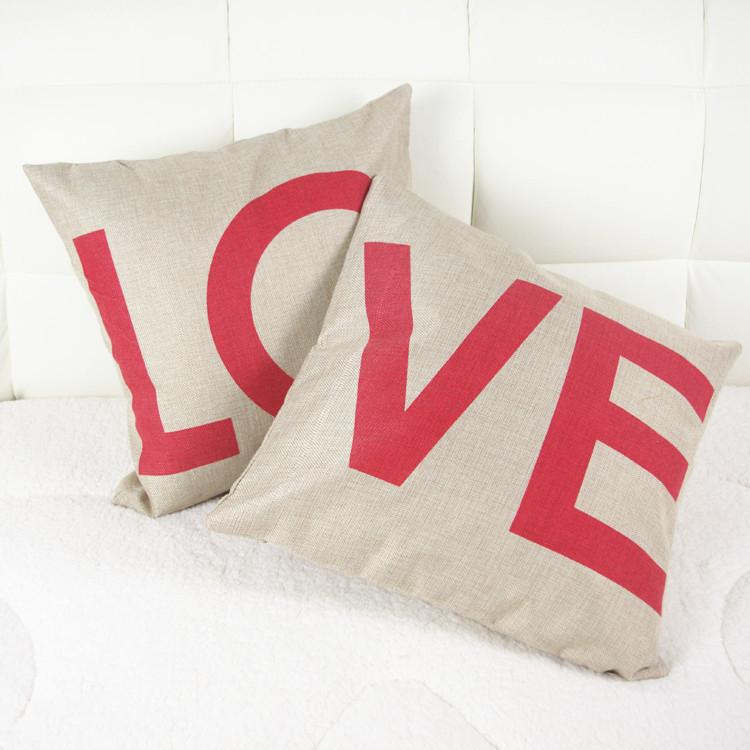 Get Quotations · Fashion 2pcs (LOVE) Design Square Home Decorative Pillow Case Cotton Linen Car Sofa Cushion & Cheap Sofa Cover Design find Sofa Cover Design deals on line at ... pillowsntoast.com
