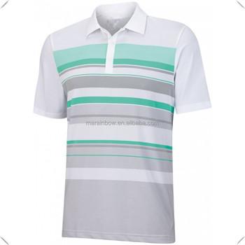 Camisa polo da listra listras impressão por sublimação custom made  desempenho esportivo DryFit Cool respirável Camisas 14e1500d09777