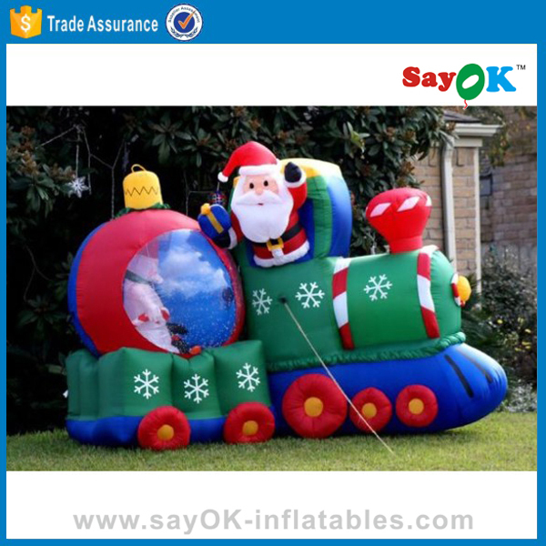 outdoor inflatable christmas train for christmas stage decoration