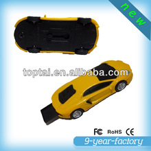 Low cost crystal gift racing car 64gb usb flash drive