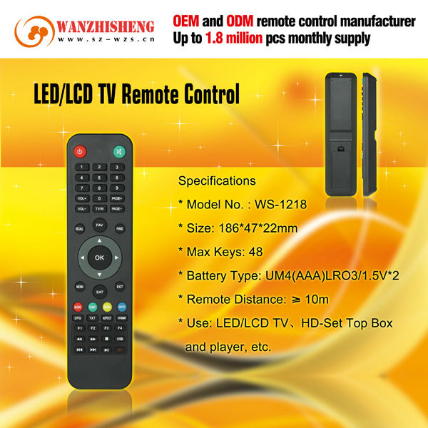48 keys strong satellite receiver ir remote controller for HD-Set top box