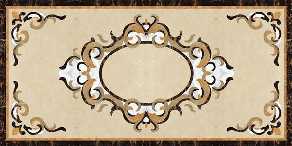 Marble Floor Pattern italian marble flower waterjet marble flooring border designs