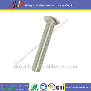 Stainless Steel DIN964 Slotted Oval Head Machine Screw