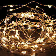 CE RoHS Christmas Wedding Decorative Warm White Copper Wire LED Fairy Lights