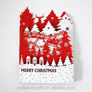 best sale three folded christmas card birthday card - Folded Christmas Cards