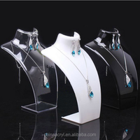 Jewellery necklace display jewellery counter acrylic display stand