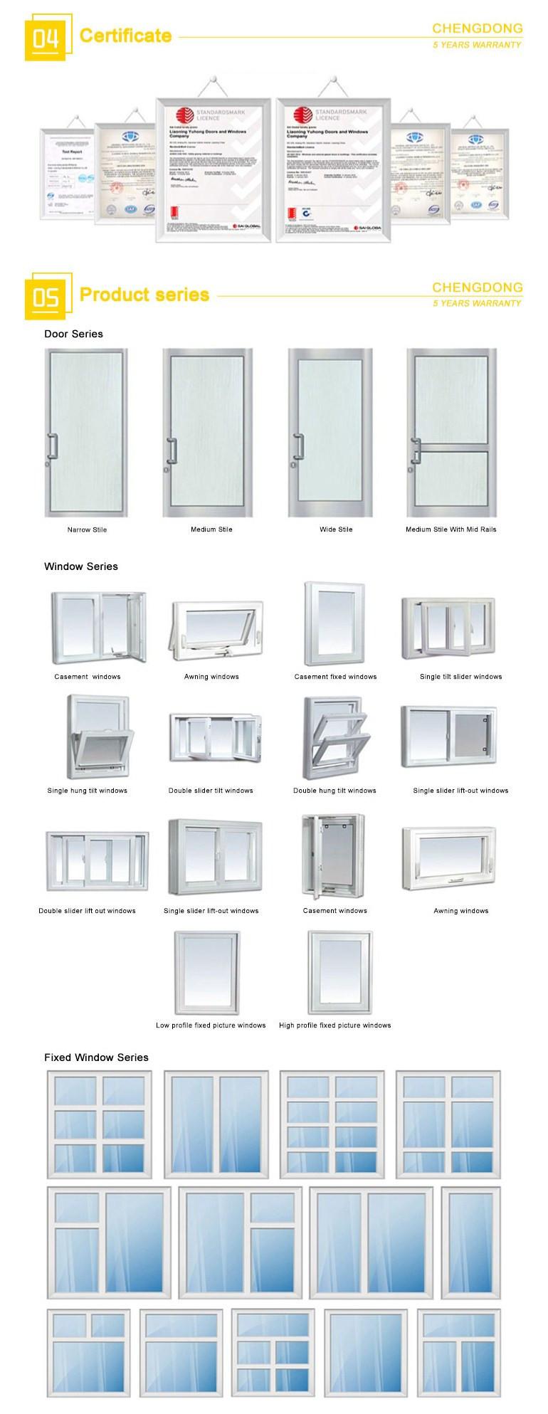 standard alumimum large double glass restaurant entry exterior door