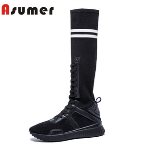 Asumer 2018 fashion custom industrial safety keen boots