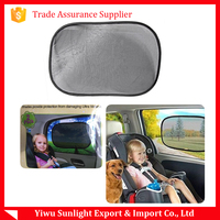 Folding static cling sunshade for car side window