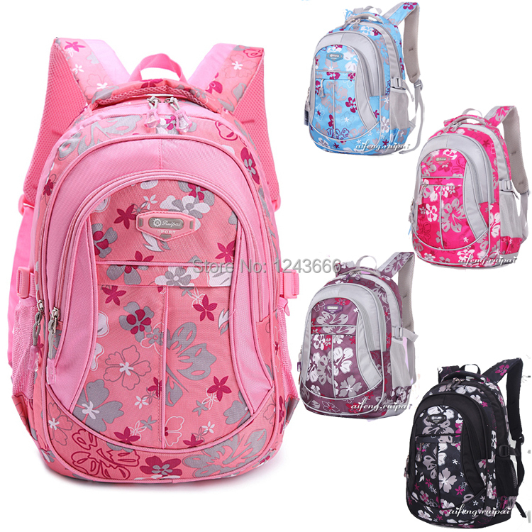 2014 New Floral Printing School Bag Backpack For Teenage Girls Boys  Teenagers Cute Trendy Children Book f51f5600e94b1