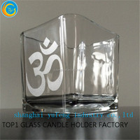 hotsale glass candle holder, wholesale glass candle container