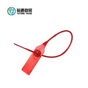 Tamper proof plastic security mail bag seal