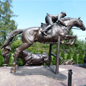 Superieur Outdoor Garden Decoration Large Bronze Riding Horse Statues For Sale