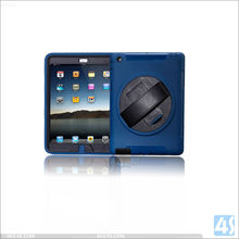 Protective Case For IPad Accessories ,360 Rotation Anti Shock Kick Stand Case cover for iPad 4 3 2 with Leather Hand strap