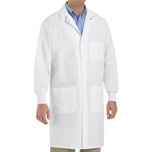 Stylish High Quality Man Lab Coat For Doctors with OEM factory