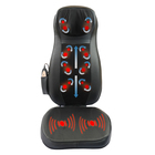 Black shiatsu neck and back massager cushion