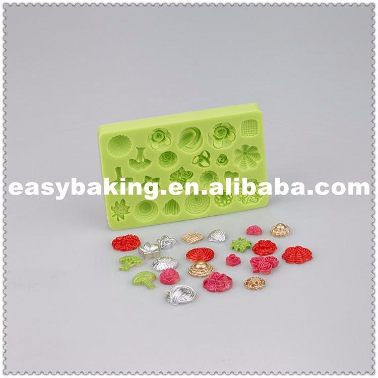 ES-7101 Variety Shapes of Flower Cake Decoration Fondant Silicone molds