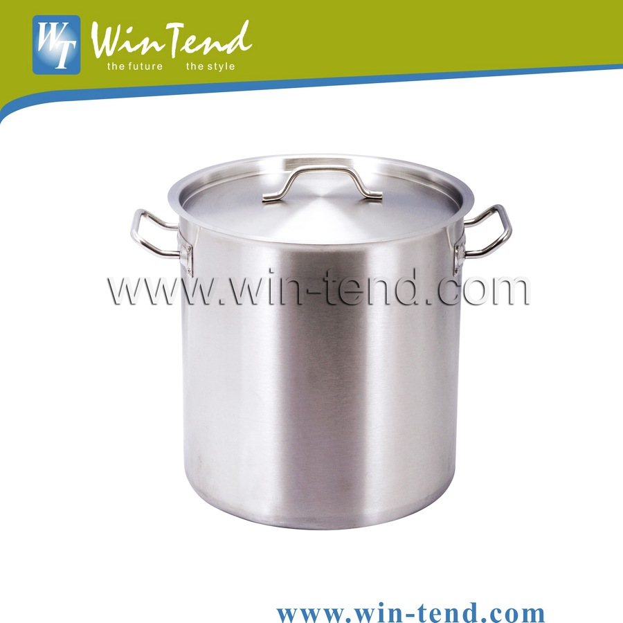 Tall Body Large Stainless Steel Stock Pot