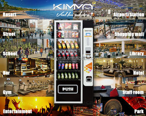 Factory cheap combo vending machine with more selections for drink and snack