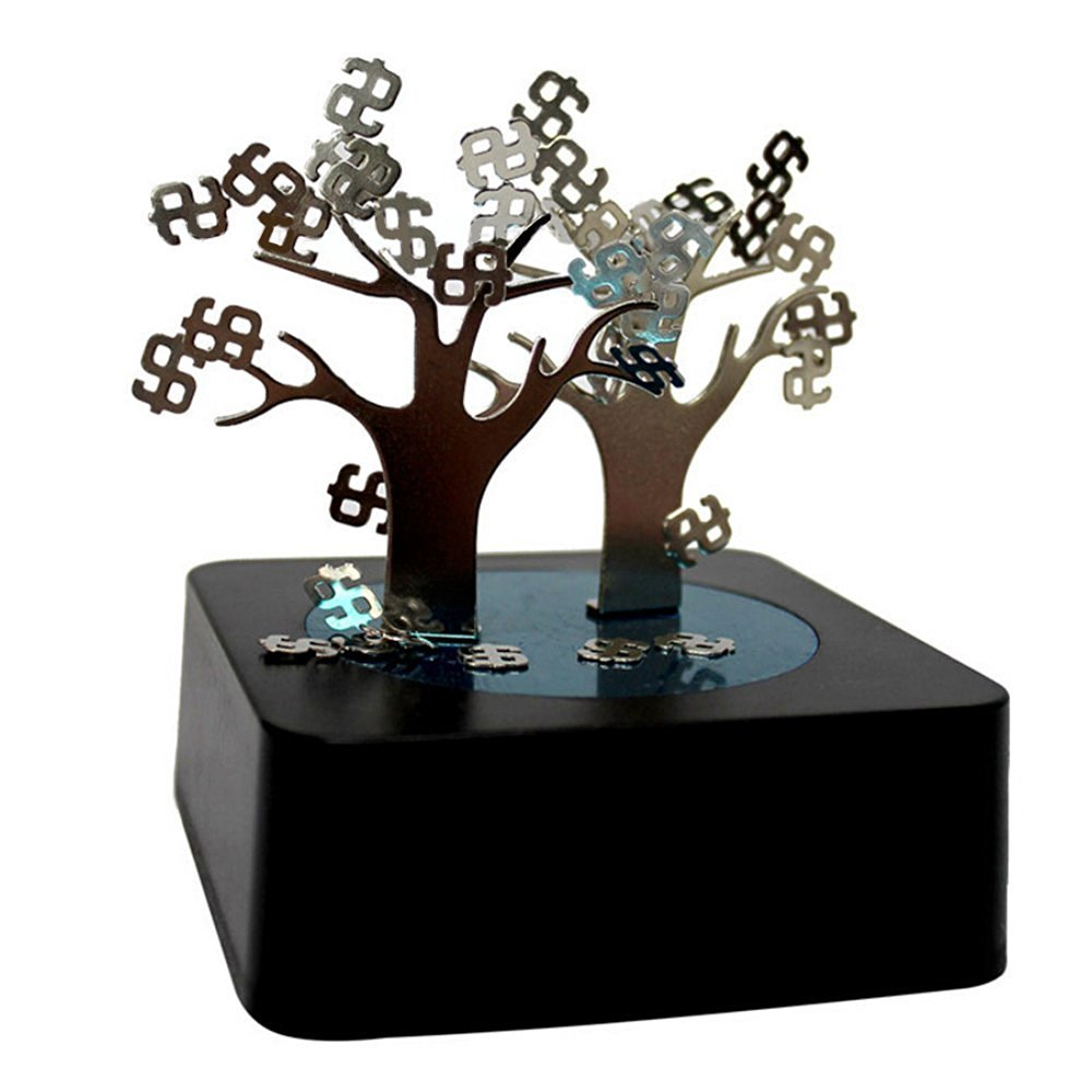 Greatlillian Magnetic Sculpture Desk Toy for Intelligence Development and Stress Relief (Money Tree)