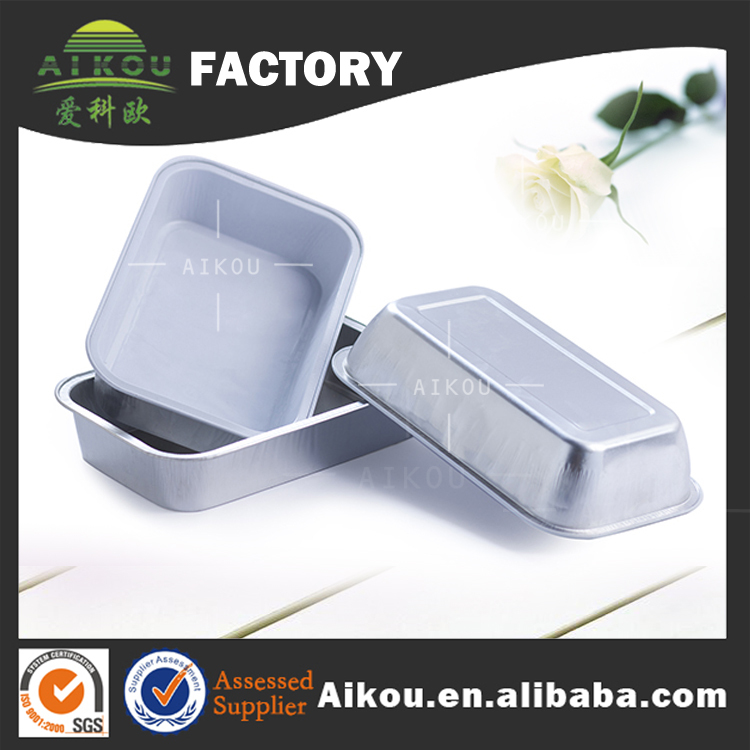 Biodegradable microwavable custom made coated aluminum foil airport catering with foil cover