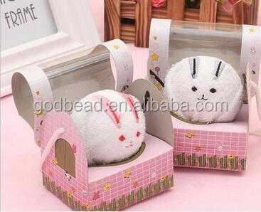 pig Panda Cake Shape mini Square Towel Cotton Washcloth hand towels for Christmas Wedding Birthday Gifts