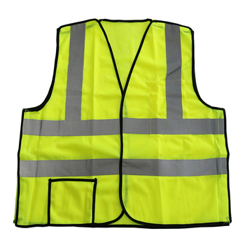 Yellow Mesh Security Reflective Safety Vest With Pockets - Buy ... c11bc7dd4c1