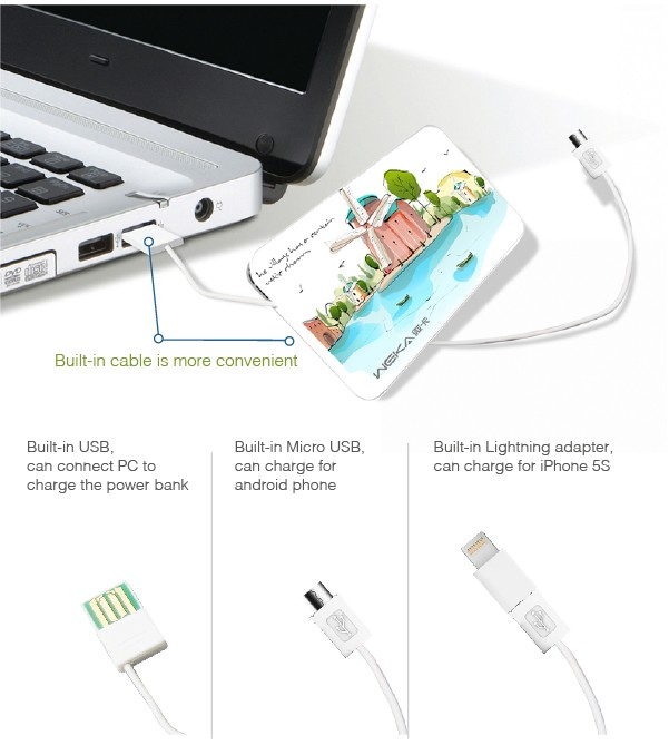 2016 top Quality Portable Mobile power bank 2000mah For All Kinds Of Mobilephone