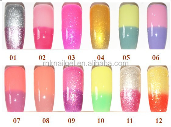 Factory Price Rnk Temperature Change Nail Polish Changing Color Glitter Uv Gel Acrylic