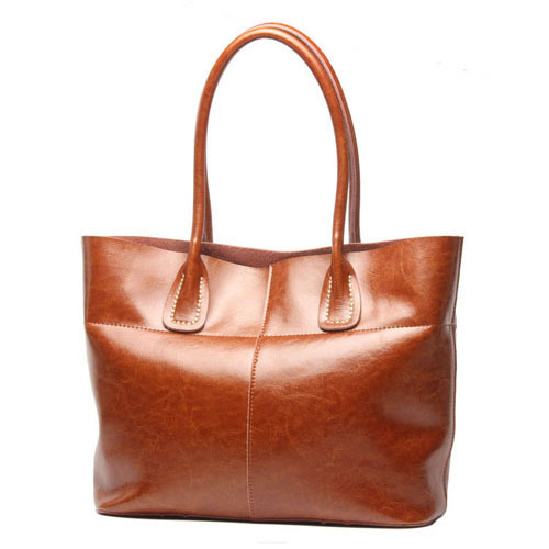 Fashion Women Genuine Leather Shoulder Bags Oil Wax Cowhide Ladies Shopping Large Bags Female High Quality Bolsas JZ5418